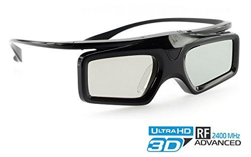 Hi-SHOCK® Advanced RF 3D Brille Power Light | Funk 3D-Brille für Hi-Shock® 3D-RF Advanced Kit für Optoma RF Beamer / Projektoren [2.4G-RF | 96-144 Hz | cr2032 | Batterie]