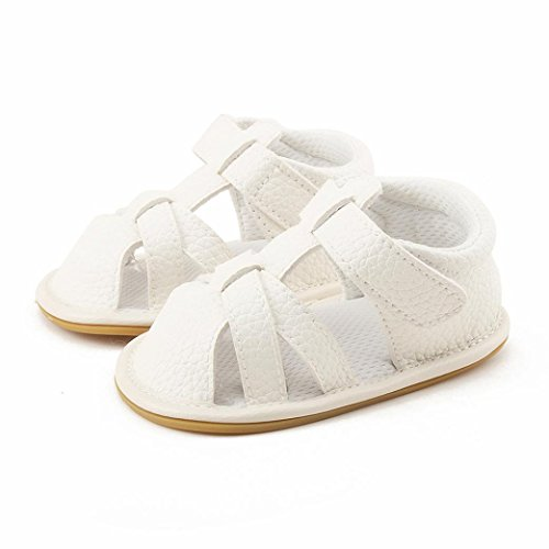 Igemy 1Paar Jungen Mädchen Sandalen Kleinkind Schuhe Geschlossene Zehe Sommer Mode Durable Baby Schuhe Weiß