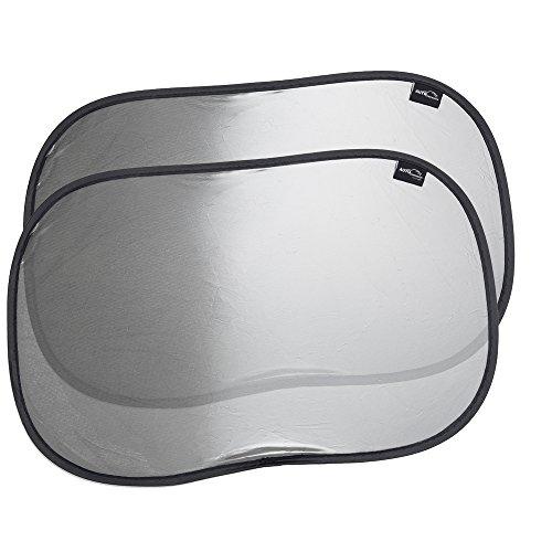 Auto Companion Universal-Autofenster-Sonnenblenden, 2 Stück, schützt vor schädlichen UV-Strahlen und Hitze durch Sonneneinstrahlung, Schutz für Ihre Kinder, keine Saugnäpfe erforderlich