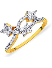 P.N.Gadgil Jewellers 18KT Yellow Gold And Solitaire Ring For Women - B076SMZ7W9