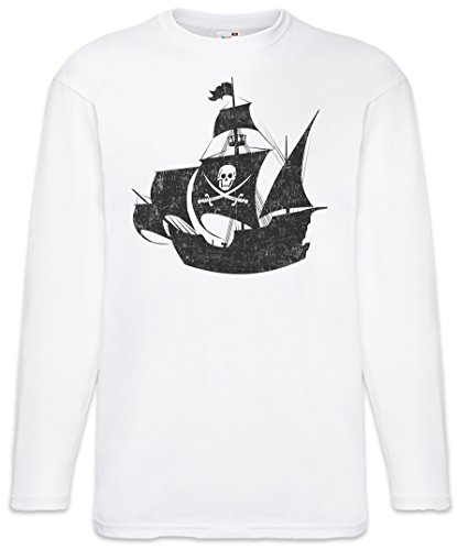 f1644ae4aa62 Urban Backwoods Pirate Ship T-Shirt à Manches Longues Long Sleeve Tailles S  – 5XL