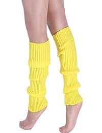 Shujin Femme Guêtre Jambière Tricoté Extensible Boot Socks pour ... faaa35d4d31