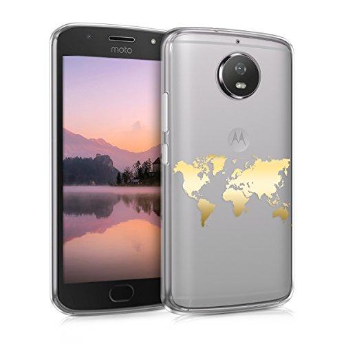 kwmobile Motorola Moto G5S Hülle - Handyhülle für Motorola Moto G5S - Handy Case in Gold Transparent