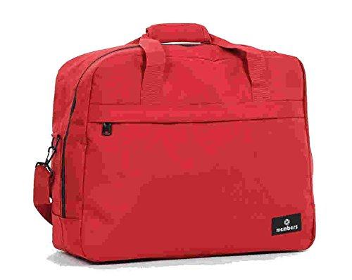 Members Essential on-board Borsa a tracolla da viaggio/borsone 55x 40x 20cm Red