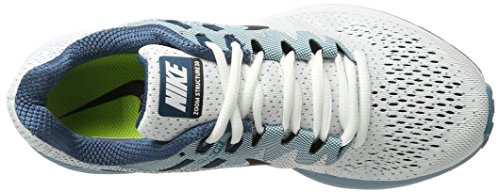 Nike Air Zoom Structure 20, Scarpe Running Uomo Multicolore (White/black-blustery-space Blue)