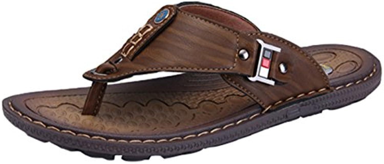 Insun Hombres Sandalias de Ocio Zapatilla de Cuero Playa Zapatos -