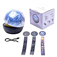 huihuay Stars Starry Sky LED Night Light Projector Luminaria Moon Novelty Table Night Lamp Battery USB Night Light For Children