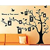 Family Photo Frame Tree Branch & Leaves wall decal sticker by Rondaful