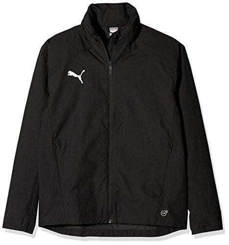 PUMA Kinder Liga Training Rain Jacket, Black White, 164