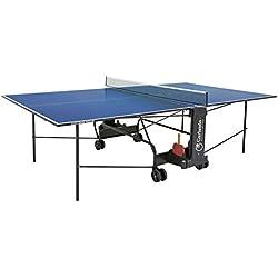 Garlando Mesa Ping Pong Challenge Indoor Con Ruote Per Interno Azul