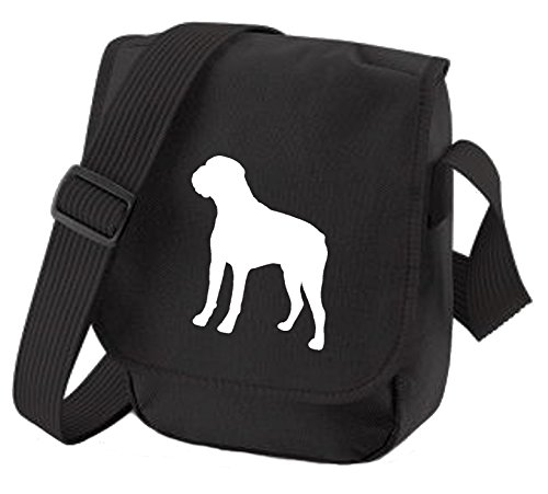 Bag Pixie ,  Unisex-Erwachsene Umhängetaschen White Dog Black Bag