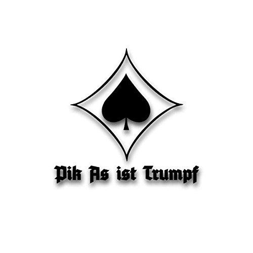 Pik As ist Trumpf JG53 Poker Karten Symbol Luftwaffe Sticker Auto-Aufkleber Alt-Deutsch schwarz...
