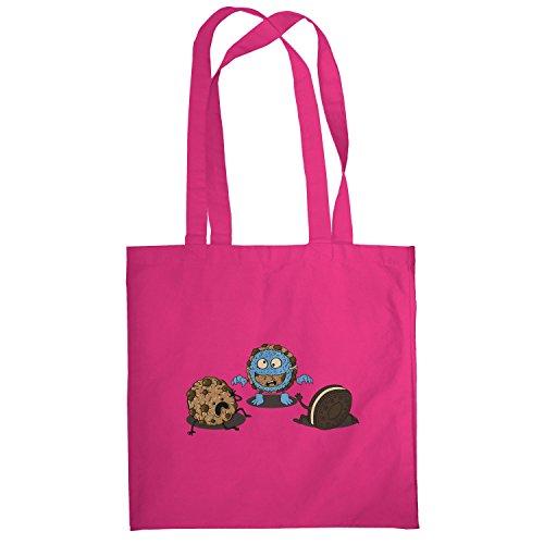 Texlab–Mostro Prank Cookie–sacchetto di stoffa Pink