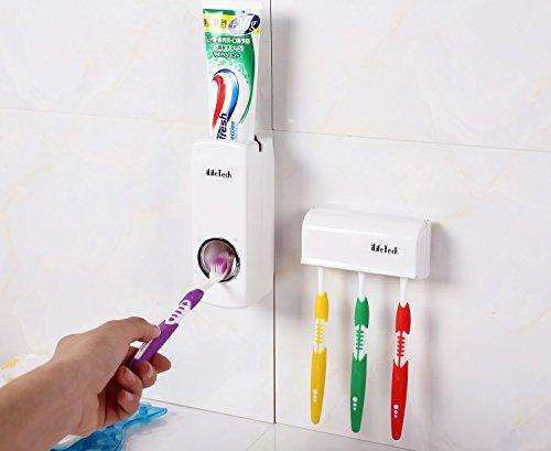 $ iLifeTech – Dispenser automatico per dentifricio e set porta-spazzolini, non impegna le mani prezzo