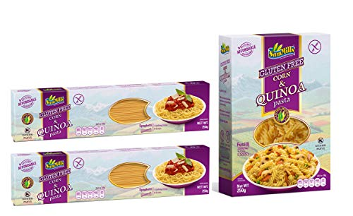 Corn & Quinoa Pasta Kennenlernpaket - 3 x 250 g glutenfreie Nudeln aus Mais- und Quinoamehl
