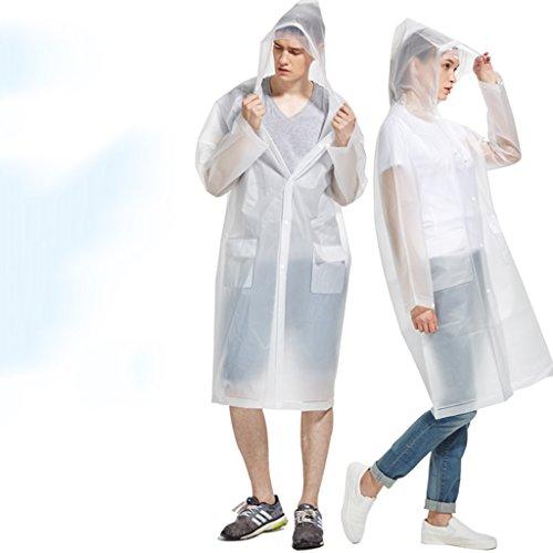 Femme Imperméable Adulte extérieur Sur Pied Individuel Poncho imperméable transparent Veste imperméable Fashion Version coréenne Imperméables (One) ( couleur : Bleu , taille : Xl ) Transparent