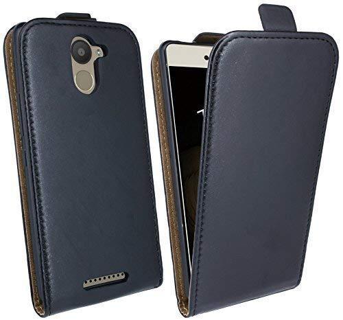 Handytasche Flip Style für BQ AQUARIS U PLUS in Schwarz Klapptasche Tasche Schutz Hülle @ Energmix