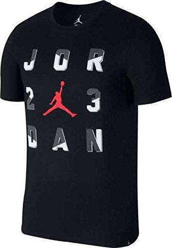 Nike Herren Jordan Sportswear 23 Schwarz Baumwolle/Polyester T-Shirt - Jordan T-shirt