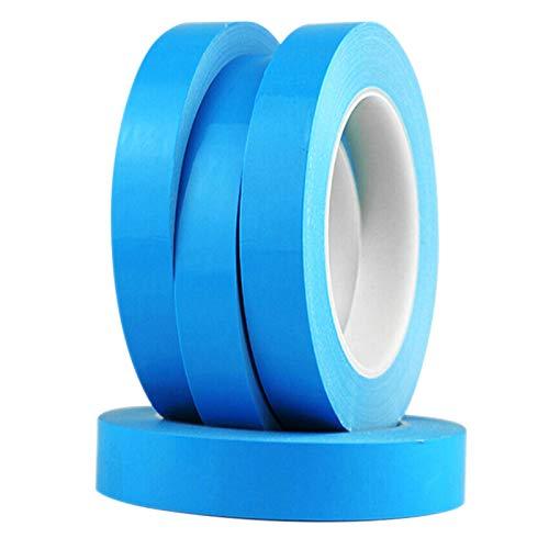 XINJIA Thermo-Klebeband Doppelseitiges Klebeband, 0,2 mm Breite Doppelseitiges LED-Form-Wärmeableitungsklebeband Blau