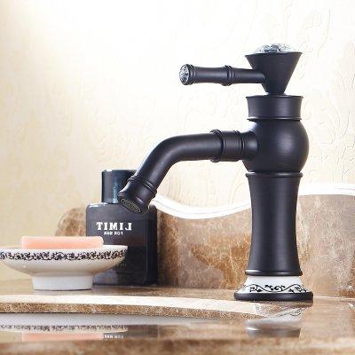 Tourmeler Water Pump Style Oil Rubbed Bronze Orb Black Bathroom Faucet Bath Lavatory Vessel Sink Basin Mixer Tap 22A0103