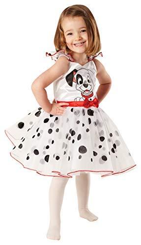 Kinder Mädchen 101 Dalmatiner Offiziell Disney Ballerina Party Kostüm Kleid Outfit - Schwarz/weiß, 3-4 years, Schwarz/weiß