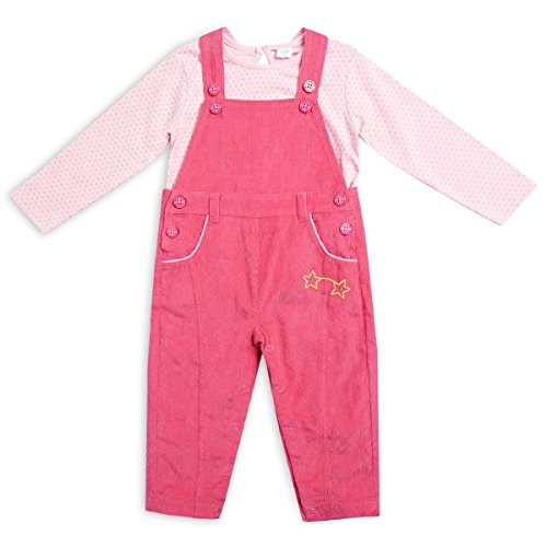 Mini Klub girls 100% cotton set top and dungaree