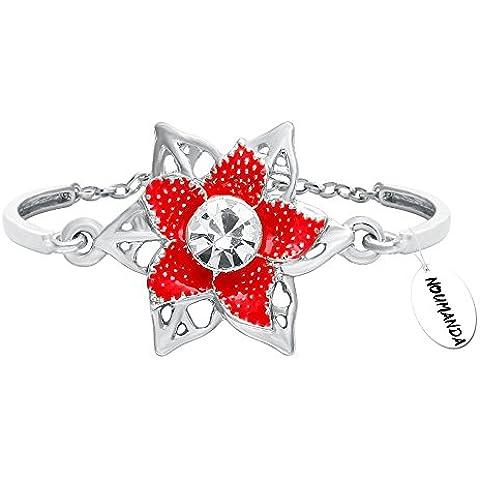 noumanda con delicato motivo floreale donne Jewelry Pretty Cristallo Braccialetto a catena