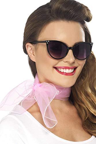 Smiffys Damen 50er Jahre Stil Halstuch, Chiffon Optik, One Size, Rosa, 22750