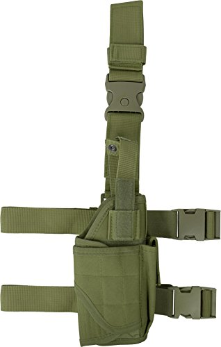 Universal Pistolenbeinholster verstellbar rechts OLIV