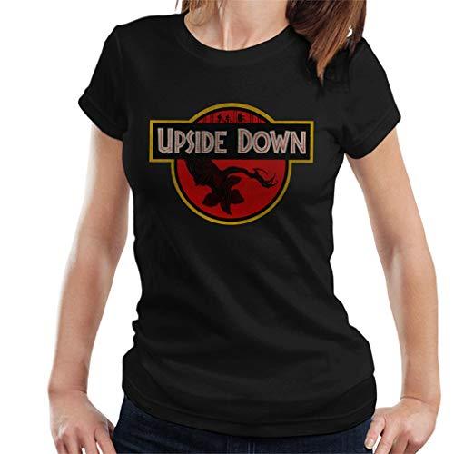 Upside Down Stranger Things Jurassic Park Women's T-Shirt