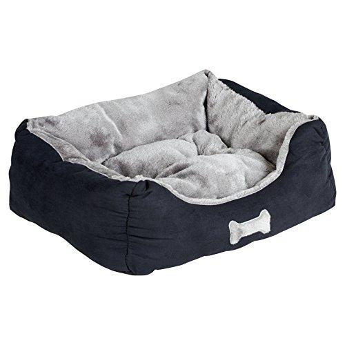 Me & My Pets Superweiches, kleines Hundebett/Katzenbett in Schwarz-Grau