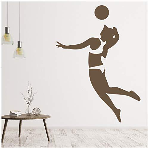 azutura Beach-Volleyball Wandtattoo Sport Wand Sticker Teenager Wohnkultur verfügbar in 5 Größen und 25 Farben X-Groß EIS Blau