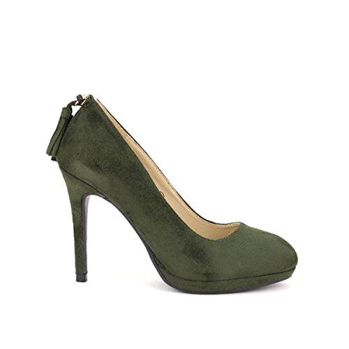 Cendriyon, Escarpin Mode Kaki CM'S Chaussures Femme Kaki