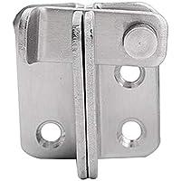 Yardwe Cerraduras de Seguridad de Acero Inoxidable Cierres Cerradura antirrobo Cierre para Puertas y Ventanas de Acero Inoxidable engrosadas - Cierre a la Izquierda (Plata)