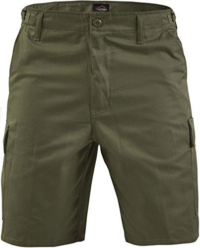 normani Kurze Bermuda Shorts US Army Ranger Feldhose Arbeitshose S - XXXL Farbe Oliv Größe XL -