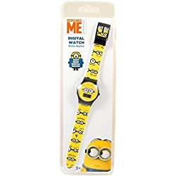 Minion Children's Quartz Watch Yellow Black Minions Digital Date Wristwatch Boys Girls