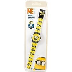 Minion Children's Quartz Watch Yellow Black Minions Digital Date Wristwatch Boys Girls