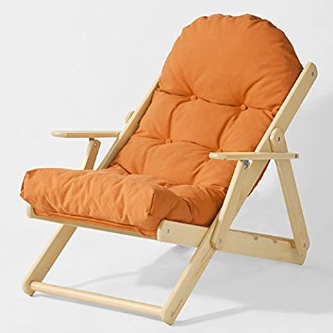 SoBuy® Lounge-Silla, Relax silla cómoda relajación reclinable plegable en 3 posiciones, FST28-O,