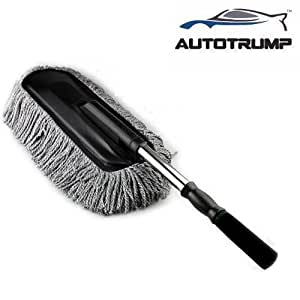 AUTOTRUMP Car Retractable Dust Wax Brush Duster Mop Trailers Drag Telescopic Cleaning Dirt Stainless Handle Cleaner For - Maruti Suzuki A-star