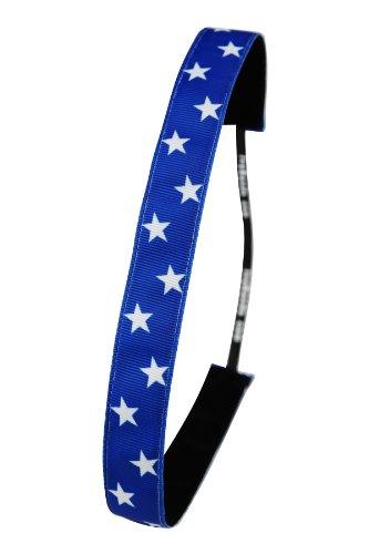 Ivybands Anti-Rutsch Haarband American Stars Blau, One size