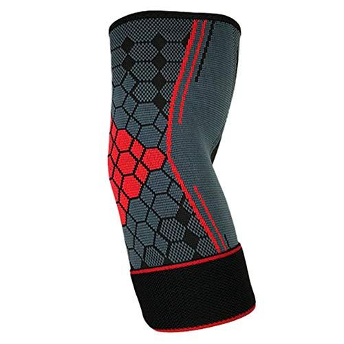 Ellenbogenschutz, rutschfest, verstellbar, für Sport, Fitness, Basketball, Ellenbogenschoner m rot
