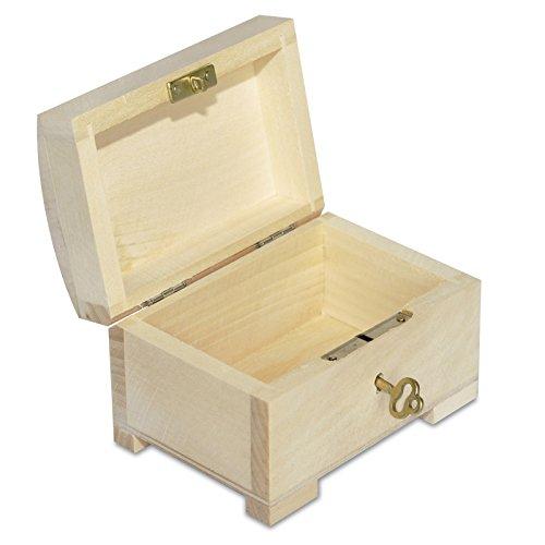 Petite Boîte En Bois Verrouillable Rangement Decorer 106 X 75 X