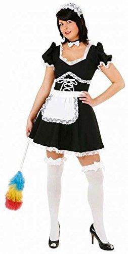 Sexy Französisches Dienstmädchen Rocky Horror Karneval Rollenspiel Spaß Henne Do Abend Party Kostüm Kleid Outfit - UK 10 (EU 38) (Rollenspiel Kostüme Uk)