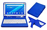 #3: ACM USB Keyboard Case for Lenovo Tab4 10 Plus Tablet Cover Stand with Free Micro USB OTG - Blue