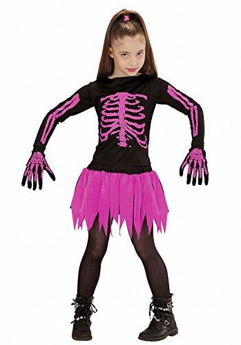 Widmann - Kinderkostüm Skeleton Ballerina - Hemd, Rock und Handschuhe - (Halloween Kostüm 13 Jährigen Ideen)