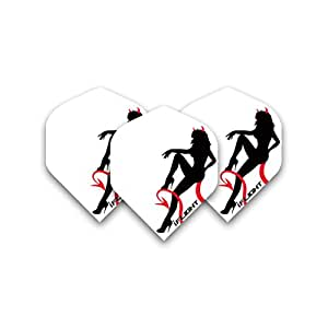 Devil Girl Iflight Std Dart Flights - 4 sets pro pack (12 flights insgesamt) & Red Dragon Checkout Card