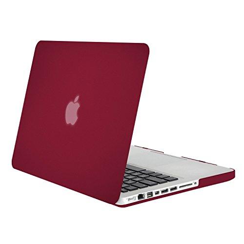 MOSISO MacBook Pro 13 Custodia Copertina (Non-Retina) - Plastica Custodia Rigida Caso Solo per Vecchio MacBook Pro 13 Pollici con CD-ROM (Modello: A1278, Versione anticipata 2012/2011/2010/2009/2008), Vino Rosso