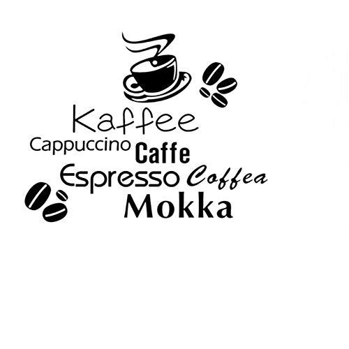 QTXINGMU Alle Arten Kaffee Angebot Wand Aufkleber Kaffee Tasse Kaffeebohnen Home Decor Home...