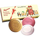 Mysore Sandal, Jasmine And Rose Soap, 450g (Pack Of 3)