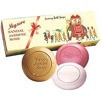 Mysore Sandal, Jasmine And Rose Soap, 450g (Pack Of 3)